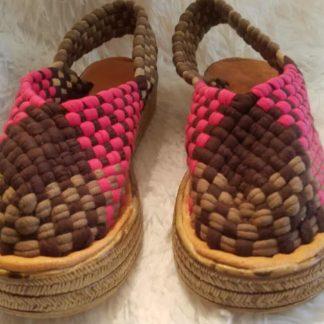 Mexican handmade woven sandals.