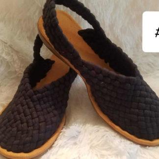 Handmade woven Mexican sandals.