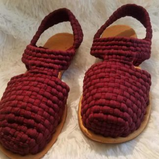 Handmade woven sandals for women.