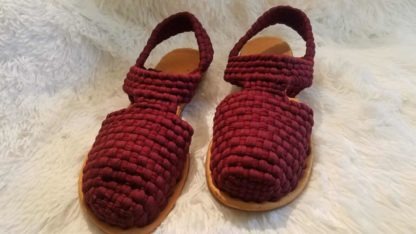 Handmade woven sandals for women.