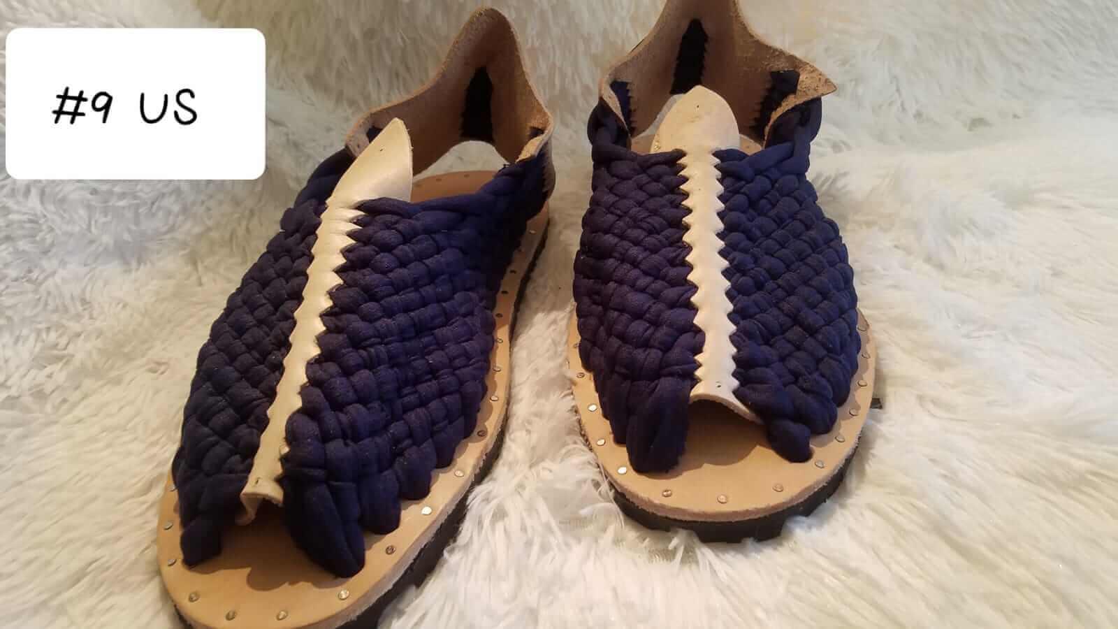 85a4d2fa186d Handmade woven Mexican sandals for men. Huaraches