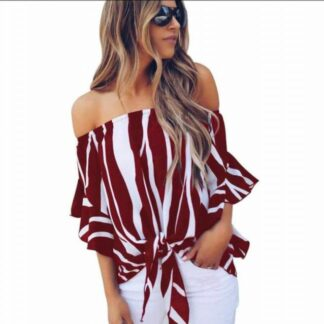Fashion Summer Shoulder Top Blouse