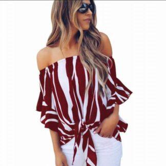 Fashion Summer Shoulder Top Blouse