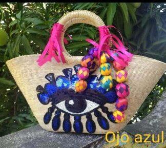 Palm woven Mexican handbag