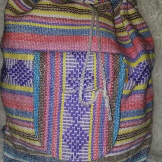 Woven thread backpack.